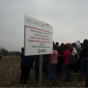 Participants in a Jan 2014 workshop at the Towns Association for Environmental Quality take a tour of USAID-funded greywater treatment site.
