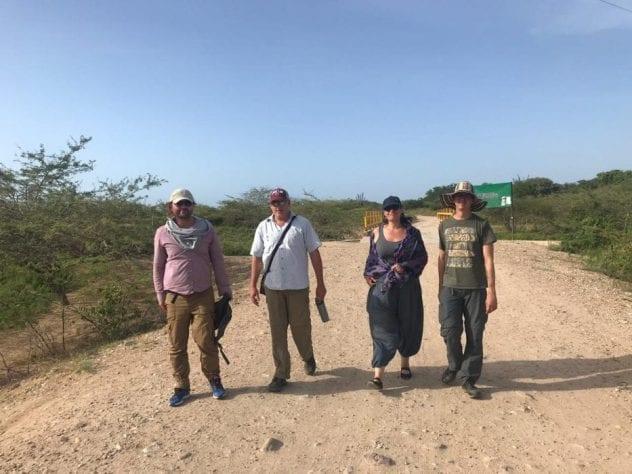 משלחת של המרכז לניהול מים חוצה גבולות בסיור ב Guajira