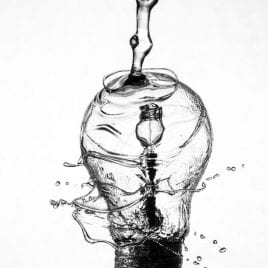 illustration: light bulb with water